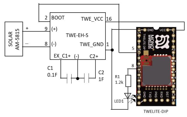 act-LEDの動作確認回路