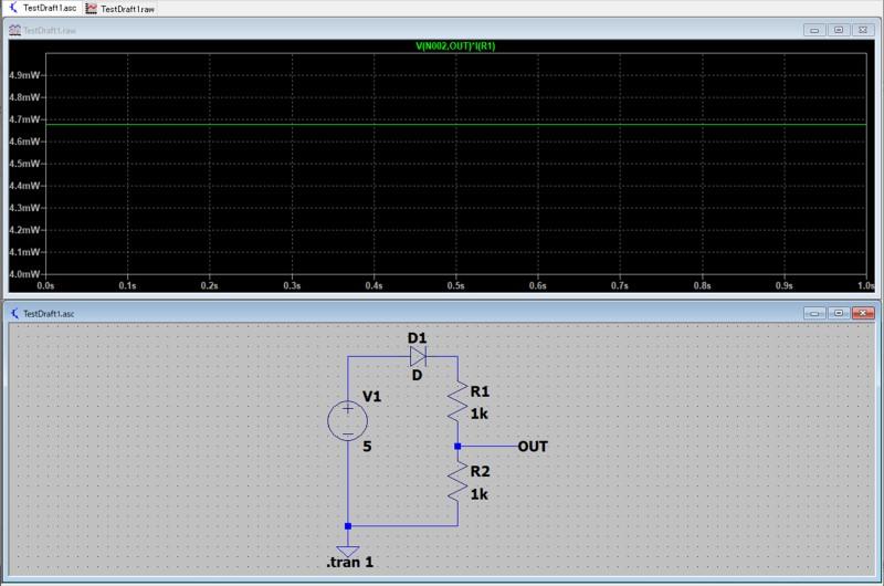 シミュレーションの例(電力測定)