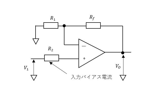 非反転増幅回路の説明図