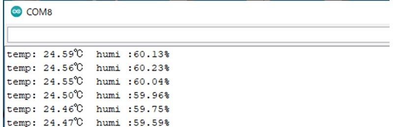 SHT35-DISのデータをWireで取得した場合の結果