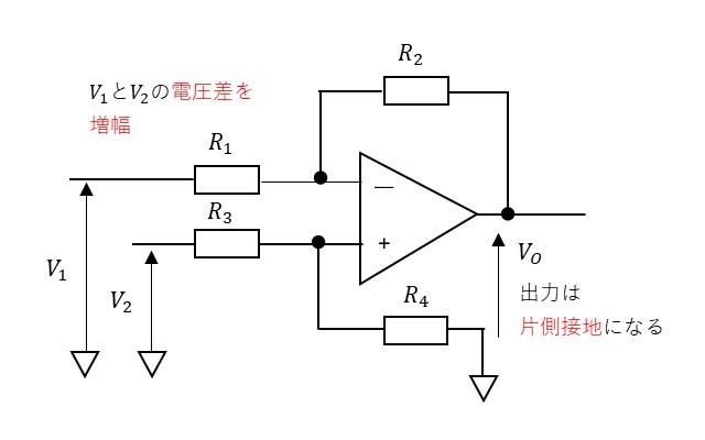 差動増幅回路の説明
