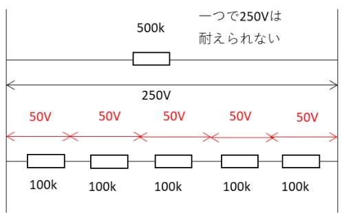定格電力や耐圧が足りない場合の組み合わせ方2