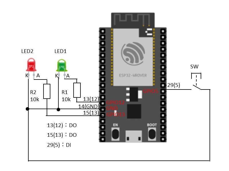 動作確認用の回路図
