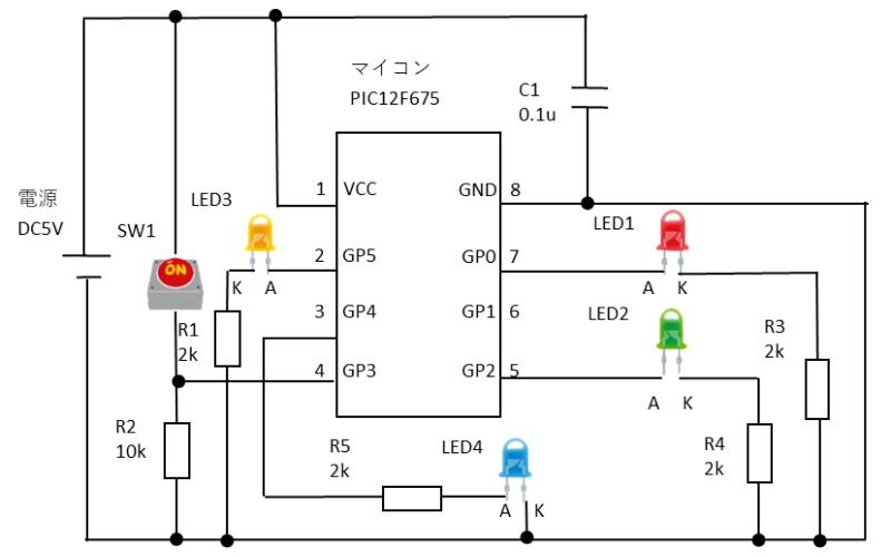 リスタートの要件確認の回路図