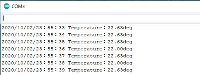 ArduinoとRX8900の動作確認