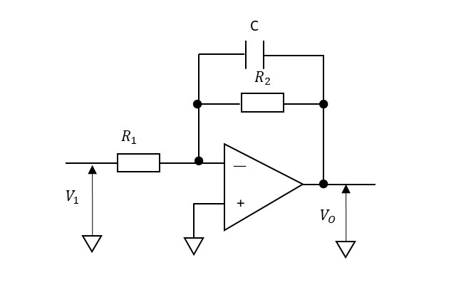 1次のLPF(アクティブフィルタ)の説明図