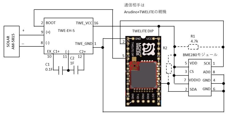 トワイライトとBME280による子機の構成