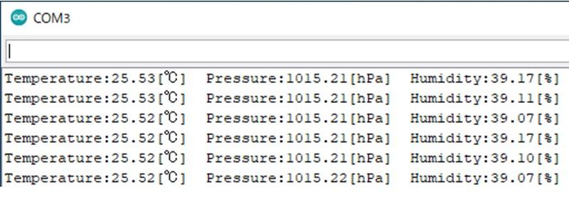 ArduinoとBME280(I2C)の動作確認